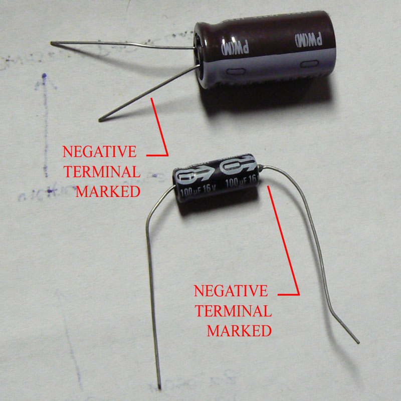 Electrolytic Capacitor Identification on radial vs axial capacitor