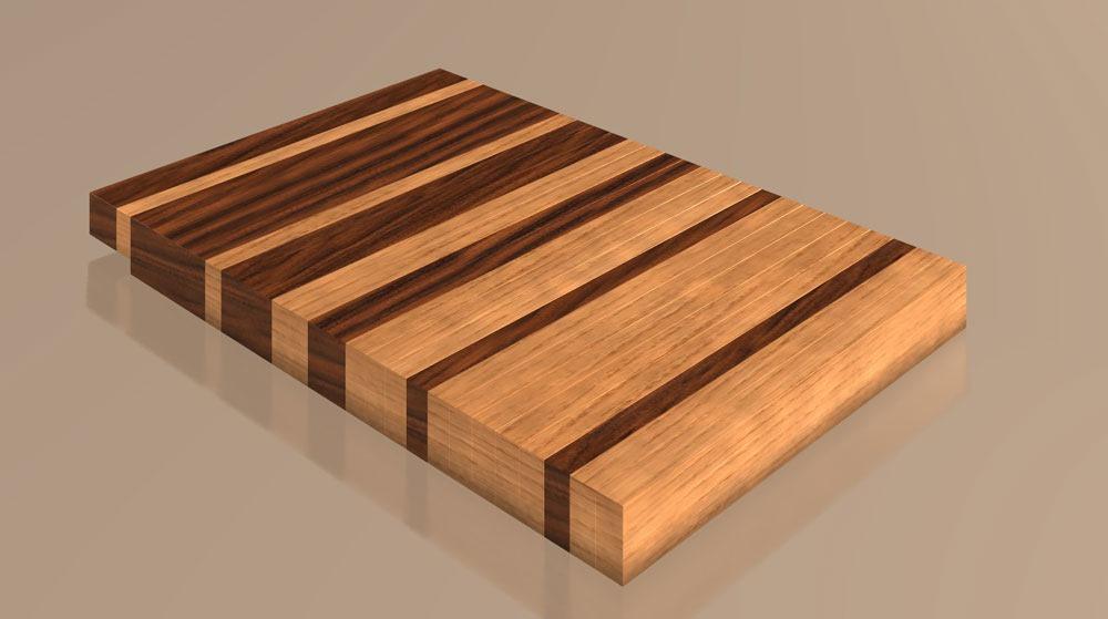 Hardwood Cutting Boards ~ Cutting board from found wood fenestration debauchery