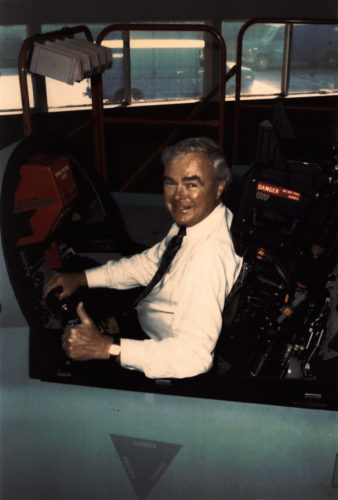 Bob in a jet simulator