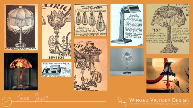 1920's Table Lamps