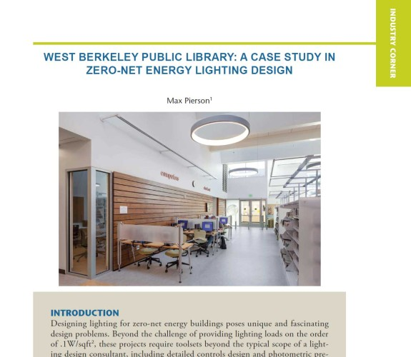 West Berkeley Public Library: A Case Study in Zero-Net Energy Lighting Design